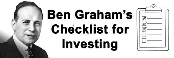 ben graham's checklist